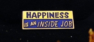 ... Anonymous Happiness Is An Inside Job Vest Pin NA Narcotics AA Al Anon