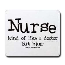 Nurse like Doctor Mousepad for