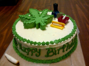 Happy Birthday Marijuana Cake
