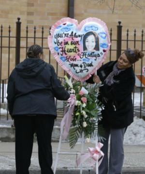 Memorial at funeral for Hadiya Pendleton (courtesy washingtonpost.com