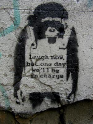 Banksy Stencil Artwork - Famous Graffiti Artist