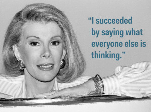 rivers on the key to a successful career 9 quotes from joan rivers on ...