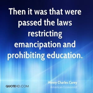 Henry Charles Carey Education Quotes