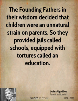 The Founding Fathers in their wisdom decided that children were an ...