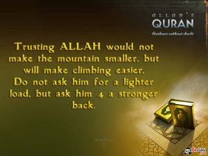 Trust Allah Islam Quote Which Guid You Trust in Allah For Success.