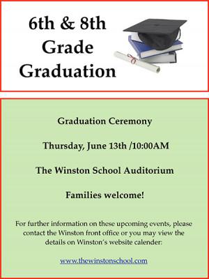 Short Graduation Poems 6th and 8th grade graduation