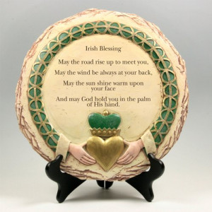 Irish Blessing Plaque with Claddagh Celtic Stone Look Inspirational ...