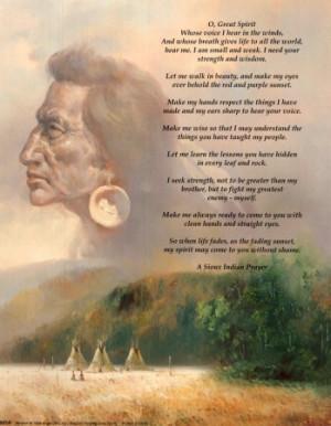 An Artist's Interpretation of White Cloud's Prayer