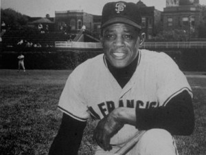 ... for captain Derek Jeter to move down the line; Willie Mays hits No. 80