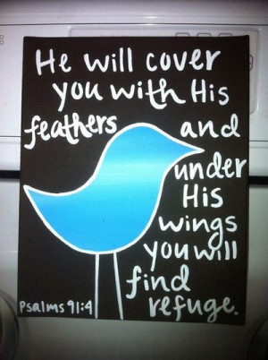 BIble Verse Bird Canvas
