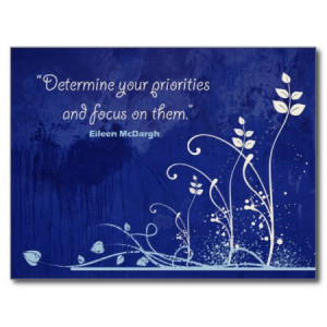 Focus-Motivational Quote postcard postcard