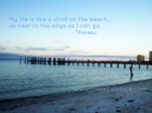 ... And Sayings: Inspiring Quote By Thoreau And The Picture Of The Sea