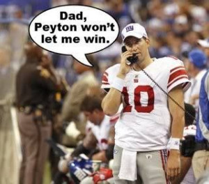 Peyton Manning, Eli Manning - NFL Even I thought this was funny - bfk
