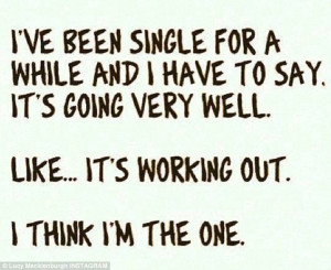 Instagram Quotes About Being Single Lucy shared a quotation on