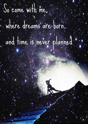 peter pan escape neverland faires stars hope dreams love quotes life ...