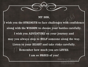 My Son, I Wish You Strength, Wisdom, & Adventure Strong Inspirational ...