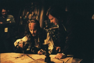 Johnny Depp with Gore Verbinski