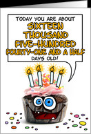 Happy birthday - 45 years old card - Product #277608