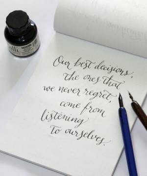 Calligraphy Tribute to Felicity via Happy Hands Project