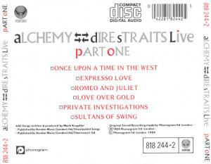 musica caratula de dire straits alchemy ds live part one del 1984 cd
