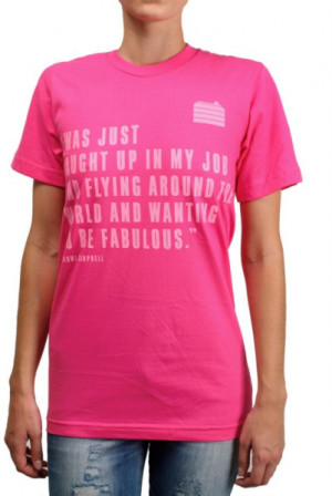 House Of Holland Naomi Campbell Quote Jersey T-shirt in Pink (fuchsia)