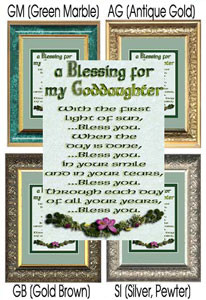 Blessing for Godparents [3 sizes] #649 click for details