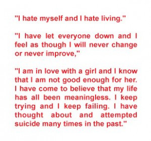previous attempts of suicide