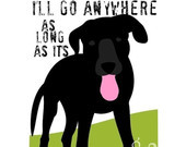 Black Lab Art Print Dog Art Wall Decor, Inspirational 5 x 7 Matted