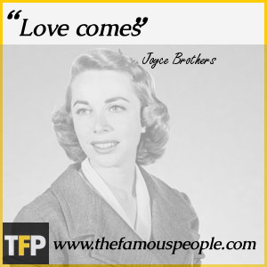 Joyce Brothers Quotes The Tree