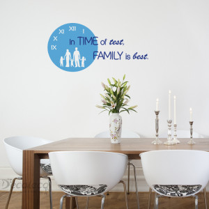 DCL] 064 Family is best vinyl wall quote INT1