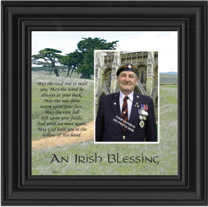 Irish Blessing Memorial Photo Frame Gift