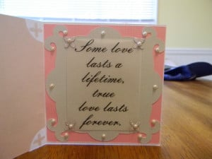 ... better view of the layering and 3D effect onthe front of the card