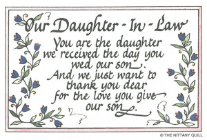 Related Pictures daughter in law thanking god for you birthday card ...