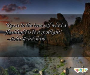 Ego is to the true self what a flashlight is to a spotlight .