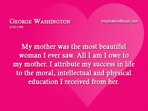 George Washington Mother Quote