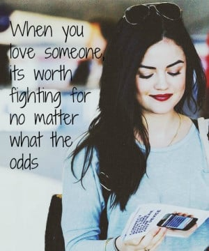 Lucy Hale + PLL Quote by PrincessOfImaginatn