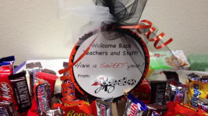 Welcome Back Teacher Candy Boxes