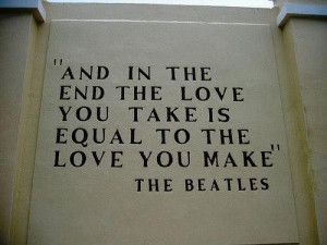 end of the last Beatles album. (Yes, Abbey Road IS the last Beatles ...