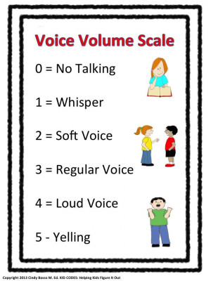... voice volume and tone depending on the situation. These are fun