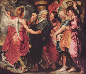 ... . Petrus Paulus Rubens, Departure of Lot and His Family from Sodom