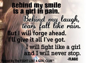 Smile through the tears.