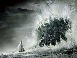 Fond écran bateau tempete
