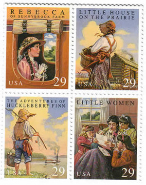 stamps commemorating American literature