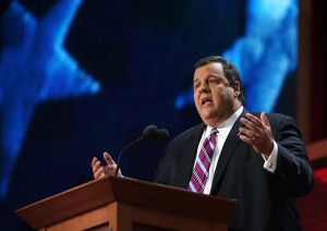 Gov. Chris Christie of New Jersey giving the keynote address during ...