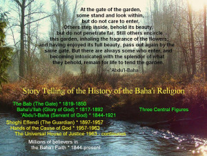 At the gate of the garden...