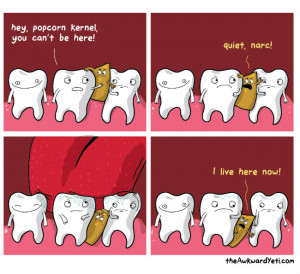 Hey popcorn kernel you can't be here – comic via
