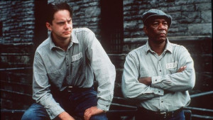 ... left, and Morgan Freeman play prisoners in The Shawshank Redemption