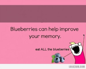 Blueberries can help improve your memory
