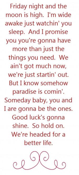 Keith Urban - Better Life - song lyrics, song quotes, songs, music ...
