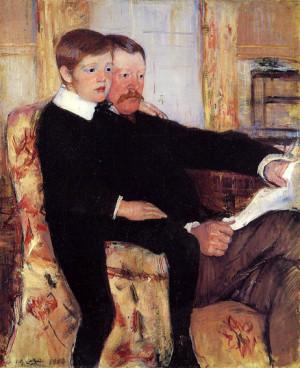 Mary Cassatt, Portrait of Alexander J. Cassatt and His Son, Robert ...